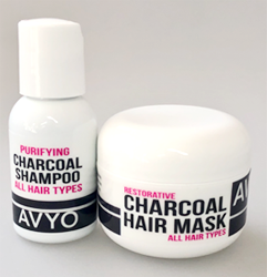 Charcoal Shampoo and Mask (Travel Size) | AVYO