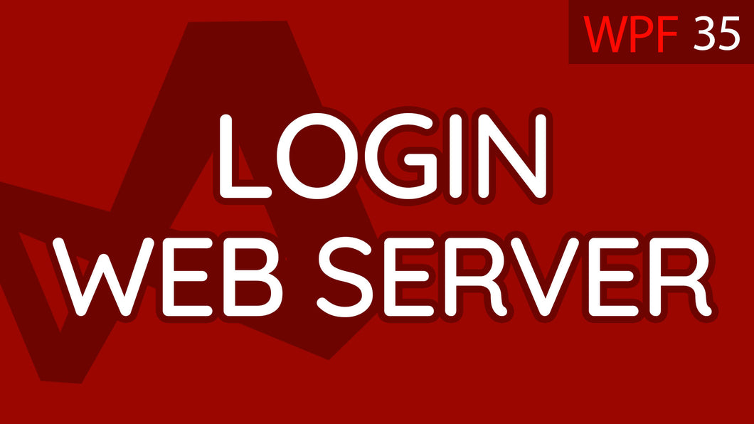 C# WPF UI Tutorials: 35 - Log In to Web Server