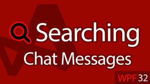 C# WPF UI Tutorials: 32 - Searching Chat Messages List Filter