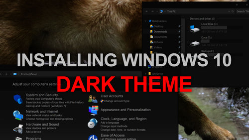 Install Custom Windows 10 Dark Theme