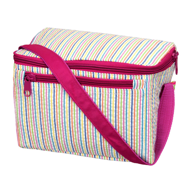 Seersucker Lunch Box - Rainbow - Pistachios Monograms and Gifts