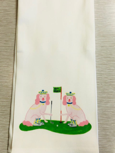 Ellen and Jay Golf Kitchen / Tea Towel by Willa Heart - Pistachios Monograms and Gifts