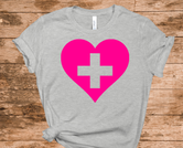 Support our Healthcare Heroes T-shirt - Athletic Heather Gray