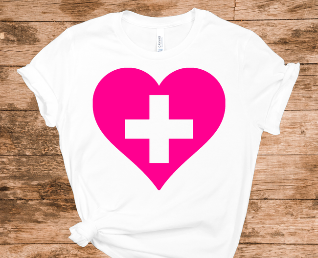 Support our Healthcare Heroes T-shirt - White - Pistachios Monogram Embroidery
