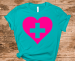 Support our Healthcare Heroes T-shirt - Teal