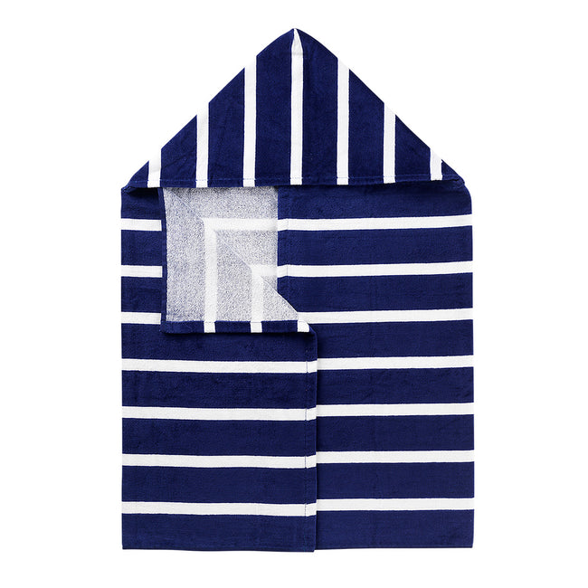 Hooded Towel - Navy and White Stripe - Pistachios Monogram Embroidery