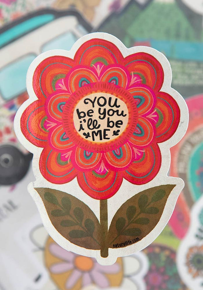 You be You and I'll be Me - Sticker - Pistachios Monogram Embroidery