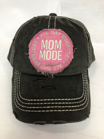 Mom Mode Baseball Hat - Pistachios Monogram Embroidery