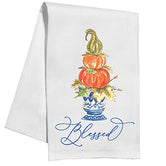 Blessed Double Pumpkin Topiary Kitchen / Tea Towel
