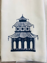 Blue Pagoda Tea / Kitchen Towel