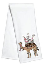 Hump Day Tea / Kitchen Towel - Camel Bar - by Hayden Gresak - Pistachios Monogram Embroidery