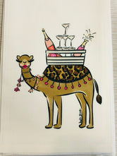 Hump Day Tea / Kitchen Towel - Camel Bar - by Hayden Gresak