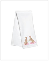 Zoe & Chloe Tea / Kitchen Towel - Toasting Cheetahs - by Willa Heart