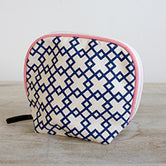 Madison Cosmetic Bag in Navy/Punch