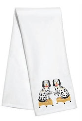 Nip and Tuck Tea / Kitchen Towel - Dogs with Cocktails - by Willa Heart