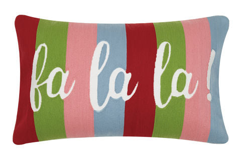 Fa La La Pillow - Crewel