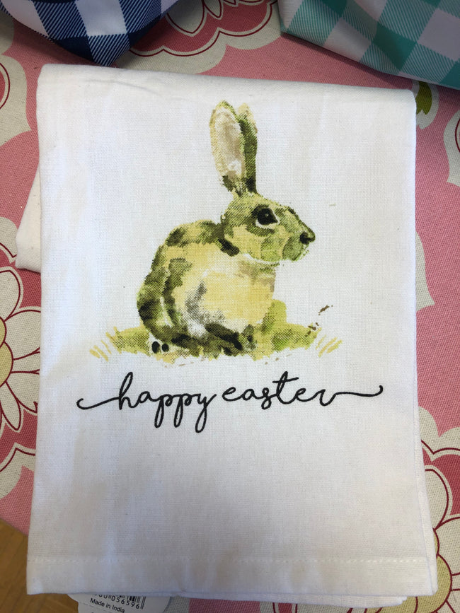 Happy Easter Hand Towel - Pistachios Monogram Embroidery