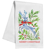 Merry Christmas Deer Kitchen / Tea Towel