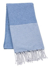 Striped Beach Towel - Navy