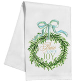 Peace Love Joy Wreath Tea/Kitchen Towel