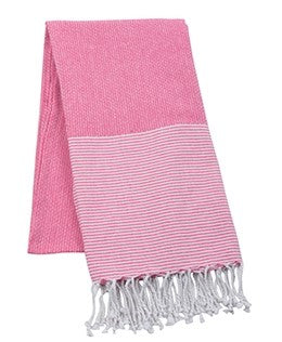Striped Beach Towel - Pink - Pistachios Monograms and Gifts