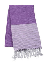 Striped Beach Towel - Purple