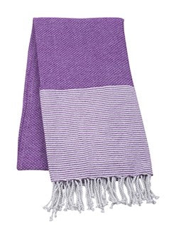 Striped Beach Towel - Purple - Pistachios Monograms and Gifts