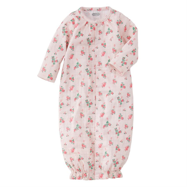 Tiny Rose Stretch Muslin Gown