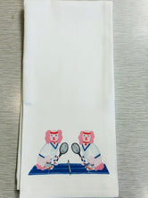 Martini and McEnroe Tennis Kitchen / Tea Towel by Willa Heart
