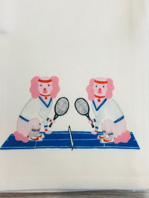 Martini and McEnroe Tennis Kitchen / Tea Towel by Willa Heart - Pistachios Monogram Embroidery