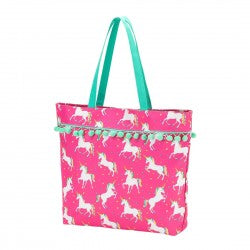 Tote Bag - Unicorn Wishes - Pistachios Monogram Embroidery