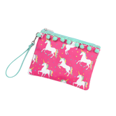 Unicorn Wishes Pom Pom Wristlet