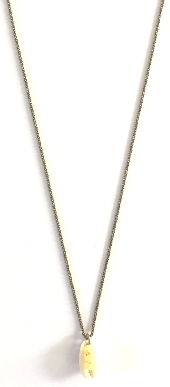 Collier plaqué or Cauri Opale
