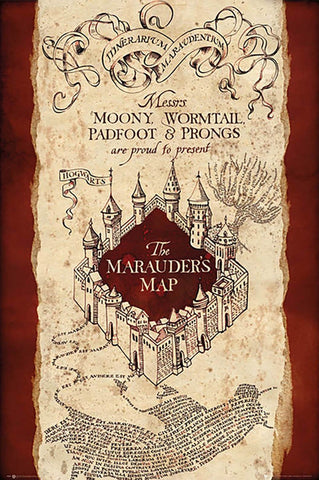 POSTER - HARRY POTTER MARAUDER'S MAP (61 x 91.5cm)