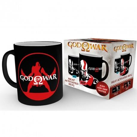 CANECA - GOD OF WAR KRATOS HEAT CHANGING