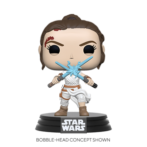 POP STAR WARS: SWEP9- REY W/2 LIGHT SABERS