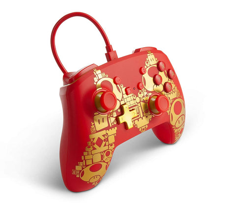 COMANDO NINTENDO SWITCH C/FIO - GOLDEN MARIO