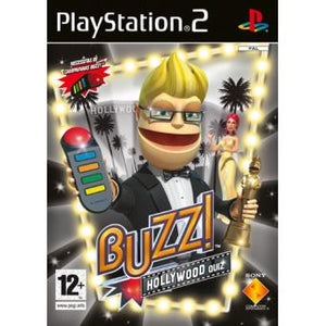 PS2 -BUZZ: HOLYWOOD QUIZ - SEMINOVO