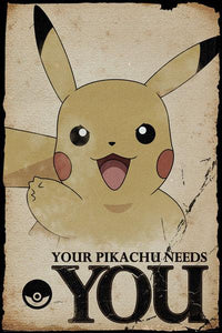 POSTER - POKÉMON YOUR PIKACHU NEEDS YOU (61 x 91.5cm)