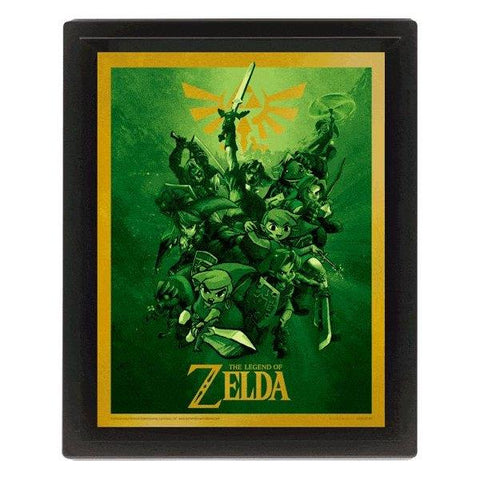QUADRO 3D - LEGEND OF ZELDA