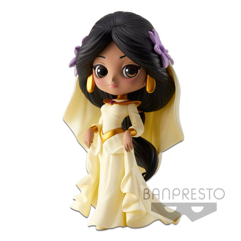 DISNEY Q POSKET MINI FIGURE JASMINE DREAMY STYLE A NORMAL COLOR VERSION 14 CM (EM EXPOSIÇÃO)
