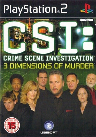 PS2 - CSI: CRIME SCENE INVESTIGATION 3 DIMENSIONS OF MURDER