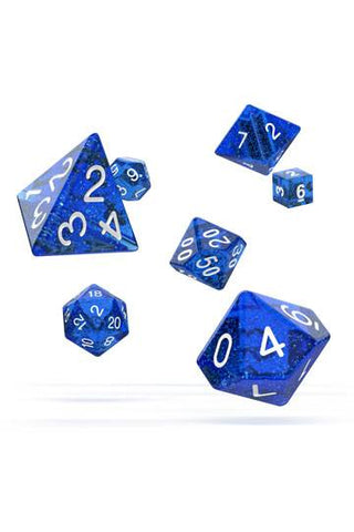 OAKIE DOAKIE DICE RPG SET SPECKLED - BLUE