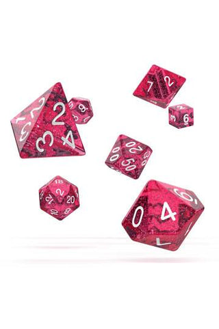 OAKIE DOAKIE DICE RPG SET SPECKLED - PINK