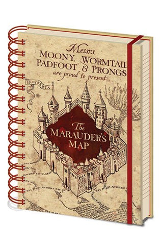 CADERNO - HARRY POTTER NOTEBOOK A5 MARAUDERS MAP