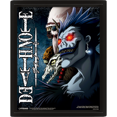 QUADRO 3D - DEATH NOTE FRAMED SHINIGAMI