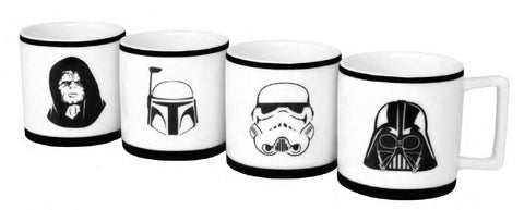 CHÁVENAS CAFÉ STAR WARS - PACK DE 4