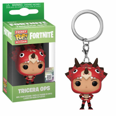 POCKET POP! KEYCHAIN FORTNITE TRICERA OPS