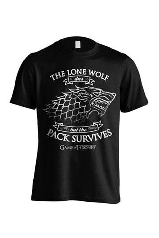 T-SHIRT - GAME OF THRONES LONE WOLF