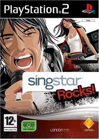 PS2 - SINGSTAR ROCKS! - SEMINOVO